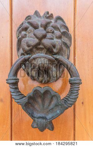 Door knob in Cartagena de Indias Colombia