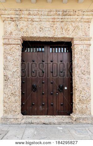 Door way in Cartagena de Indias Colombia