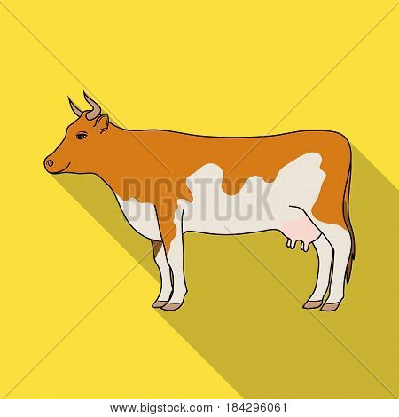 Cow.Animals single icon in flat style vector symbol stock illustration .