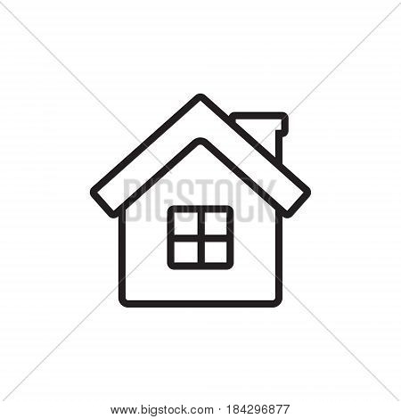 Home vector icon for web mobile applications and print media. Outline house simple icon.