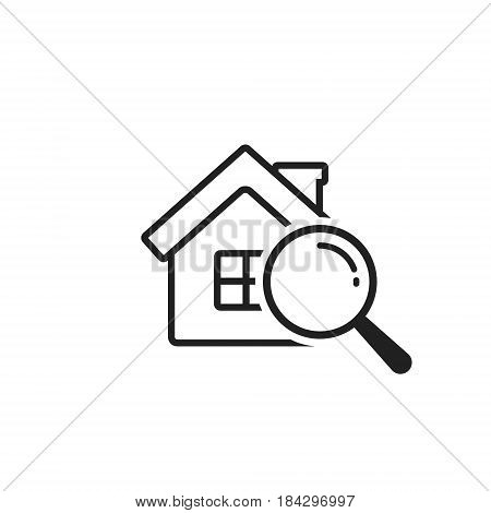 Search house icon vector simple illustration isolated on white.