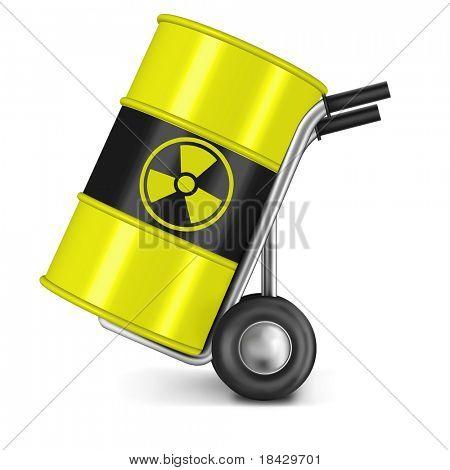 barrel with radio active waste nuclear power station waiste dangerous hazard of gamma radiation radioactive radiance risk radium uranium
