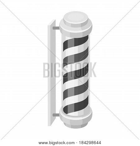 Barber logo.Barbershop single icon in monochrome style vector symbol stock illustration .