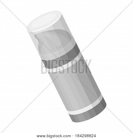 Shaving foam.Barbershop single icon in monochrome style vector symbol stock illustration .