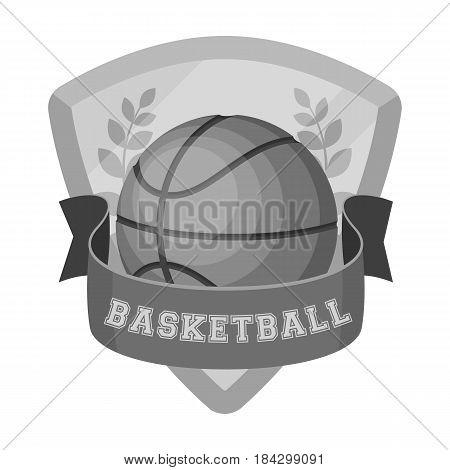 Basketball emblem.Basketball single icon in monochrome style vector symbol stock illustration .