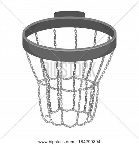 Basketball hoop.Basketball single icon in monochrome style vector symbol stock illustration .