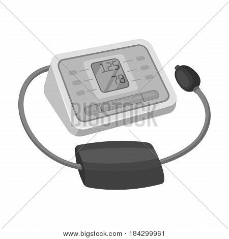 Medical tonometer.Old age single icon in monochrome style vector symbol stock illustration .