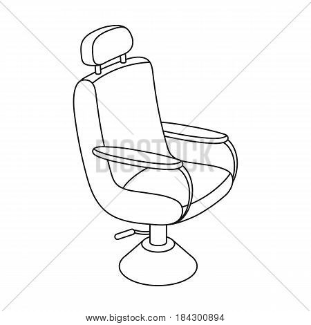 Armchair.Barbershop single icon in outline style vector symbol stock illustration .