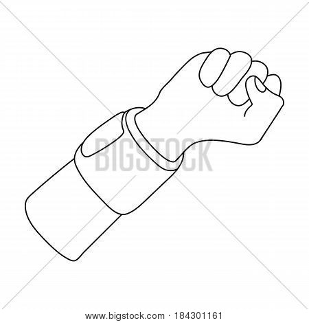 Arm with bandage.Basketball single icon in outline style vector symbol stock illustration .
