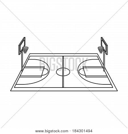Basketball court.Basketball single icon in outline style vector symbol stock illustration .