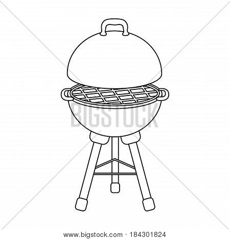 Grill for barbecue.BBQ single icon in outline style vector symbol stock illustration .
