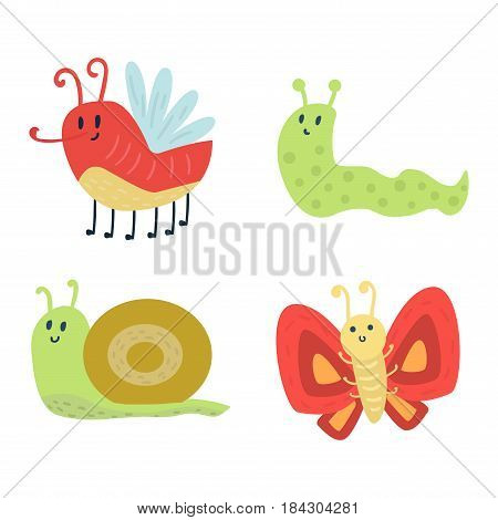 Colorful butterfly with abstract decorative snail artistic pattern vector. Graphic summer free fly present silhouette. Beauty nature spring insect decoration.