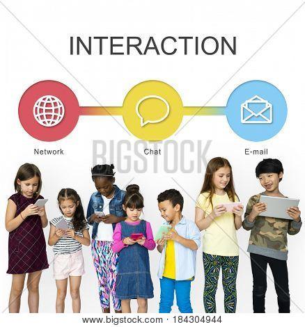 Children Using Digital Device Interaction Communication