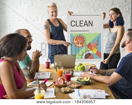 Healthy Food Clean Diet Concept