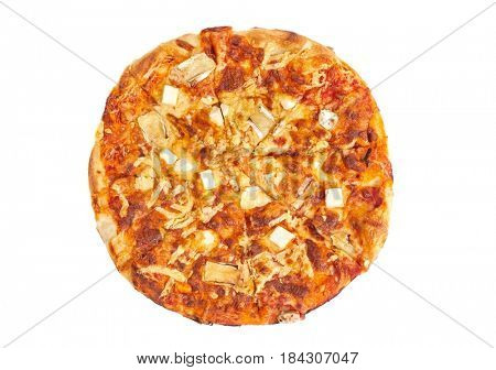 Pizza with various cheese toppings