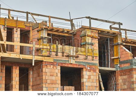 Detail of a house under construction