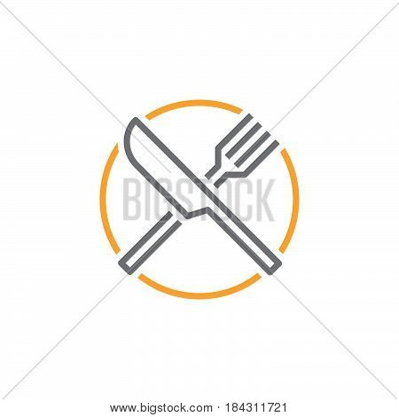 Fork And Knife Line Icon, Dishware Outline Vector Logo, Linear Pictogram Of A Restaurant Isolated On