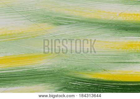 Green And Yellow Brush Strokes