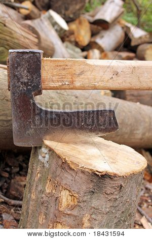 Axe in stump