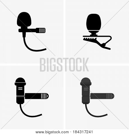 Set of lapel microphones ( shade pictures )