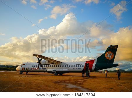 Domestic Aircraft In Mandalay, Myanmar