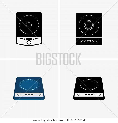 Set of four portable induction cooktops ( shade pictures )