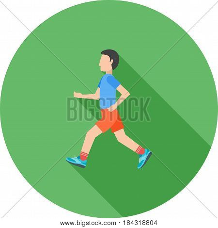 Running, road, marathon icon vector image. Can also be used for city lifestyle. Suitable for web apps, mobile apps and print media.