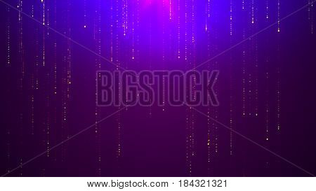 Futuristic technology, lines data stream abstract background like binary code. Abstract science fiction sci-fi matrix backdrop