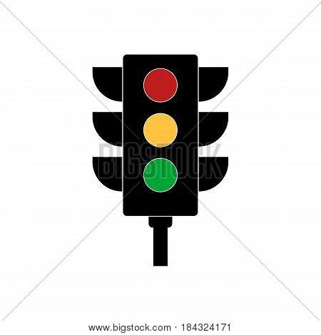 Traffic light signal. Traffic light vector icon