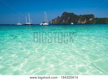 Horizon Rocks Sea Scene