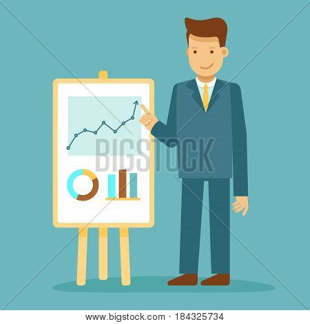 Guy Making Business Presentation - Conference And Public Speaking