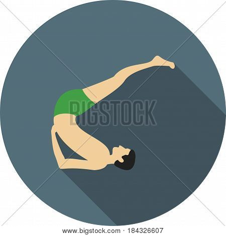 Pose, yoga, shoulderstand icon vector image. Can also be used for yoga poses. Suitable for mobile apps, web apps and print media.