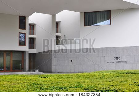Berlin, Germany - April 12, 2017: The building of the embassy of Baden-Wurttemberg state in Berlin.