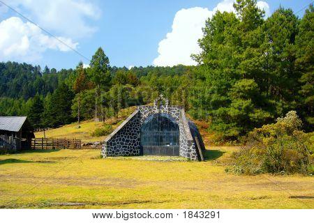 A Little Church In Mountains