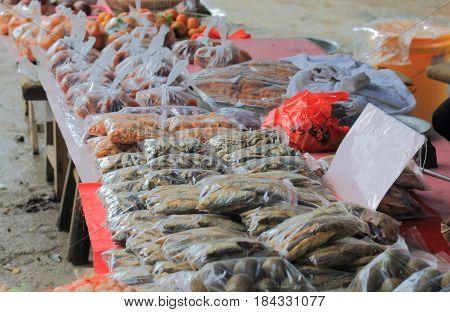 Xingping historical village fish market  Xingping China.