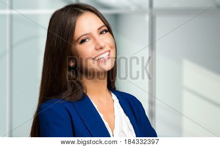 Beautiful young secretary portrait