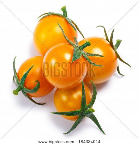 Yellow Cherry Tomatoes, Pile,  Top View, Paths
