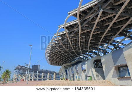 KAOHSIUNG TAIWAN - DECEMBER 14, 2016: Kaohsiung World Games stadium. Kaohsiung World Games stadium is the largest stadium in Taiwan in terms of capacity built in 2009.