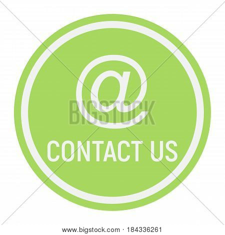 Email address flat icon, contact us and website button, vector graphics, a colorful solid pattern on a white background, eps 10.