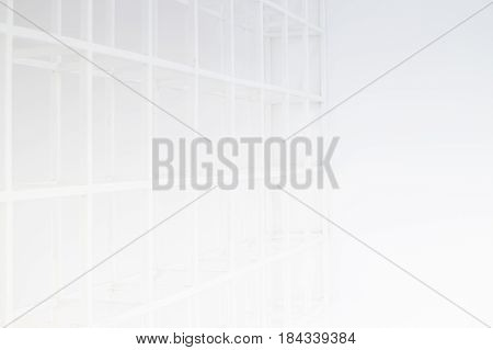 Abstract Empty Corridor With Partitions stock photo