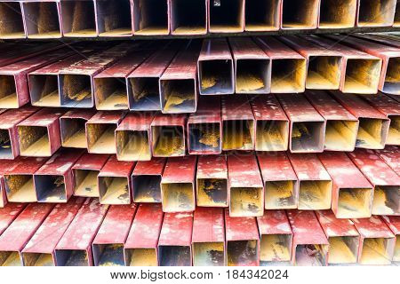 Iron plate sheet iron texture or skeletal for building grandstand in racetrack