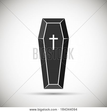 coffin icon. isolated on background. Vector illustration. Eps 10.