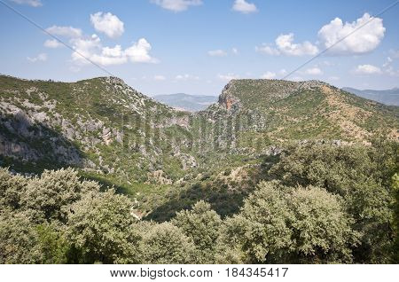 Views of Grazalema Natural Park from Acebuches Mountain Pass, Cadiz, Andalusia, Spain
