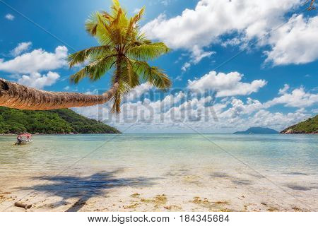 The Beautiful beach on tropical island, Seychelles.