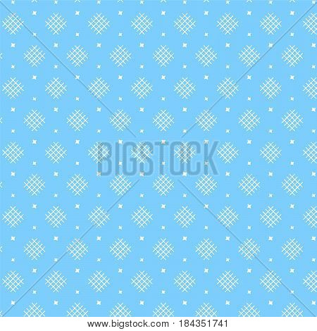 white diamond shape weaving pattern with star on soft blue background vector illustration image