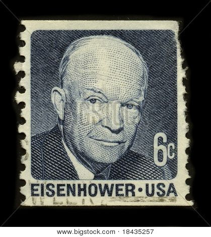 USA-CIRCA 1970:A stamp printed in USA shows image of the Dwight David