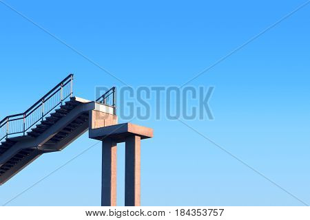 the ladder into the blue sky. photo background