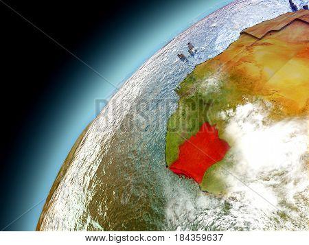 Ivory Coast From Orbit Of Model Earth