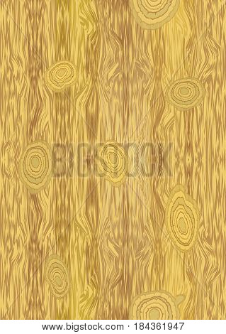 Vector light wooden texture with knot structure, vector EPS 10