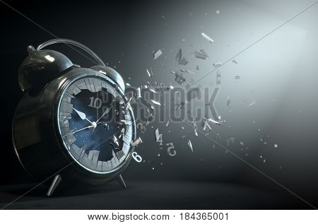 Table Clock Time Smashing Out